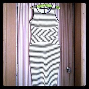XOXO Black and White Stretch Bandage Dress Bodycon